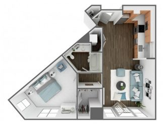 A4 Floor plan layout