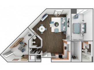 A6 Floor plan layout